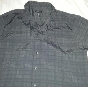 VAN HEUSEN 16.5 BUTTON DOWN GRAY DRESS SHIRT